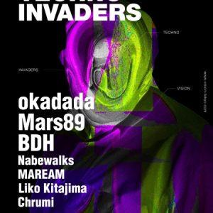2020年9月18日に渋谷VISIONで開催される「TECHNO INVADERS」
