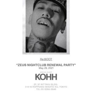ZEUS NIGHTCLUB RENEWAL PARTY Re:BOOT