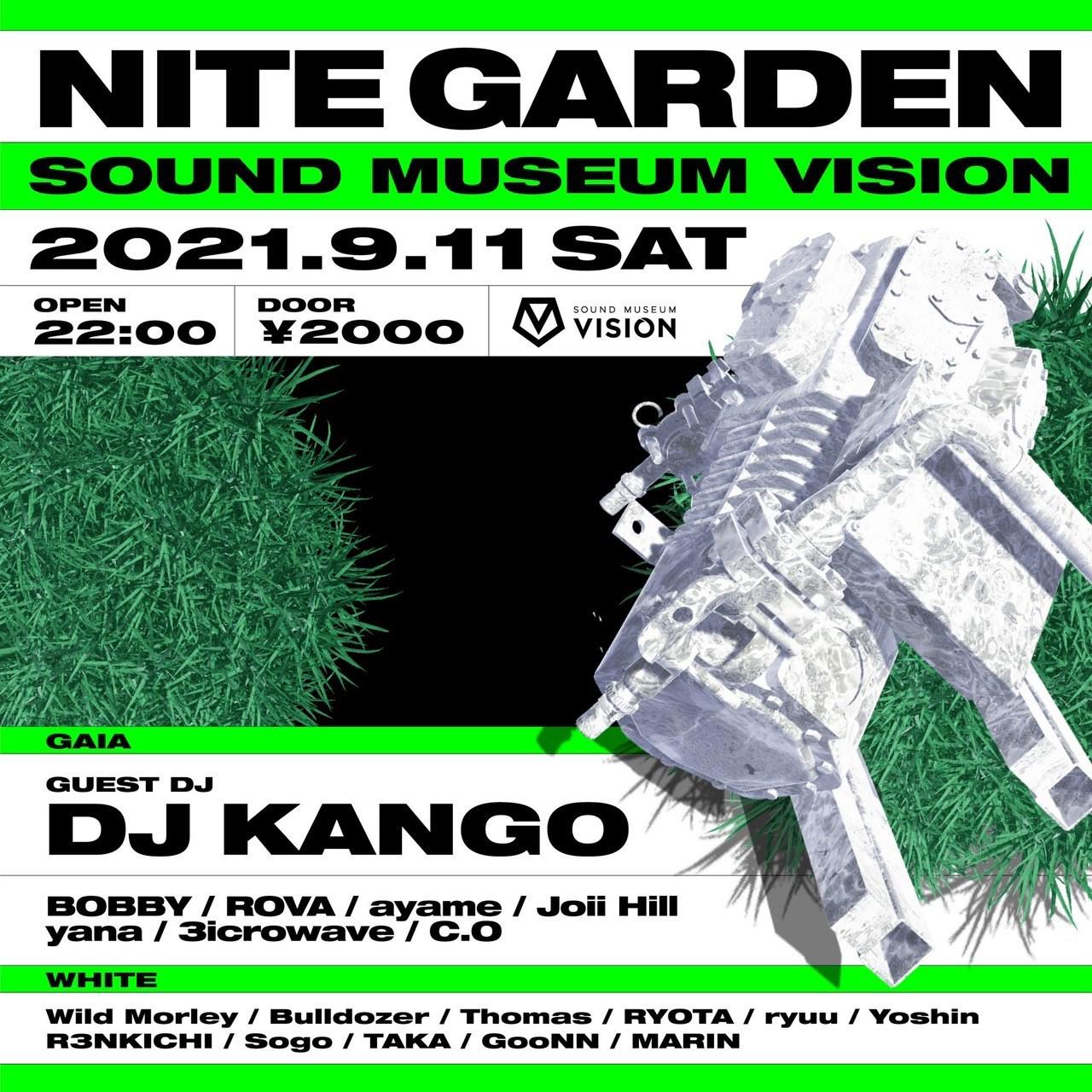 今夜9/11(土) NITE GARDEN @渋谷VISION